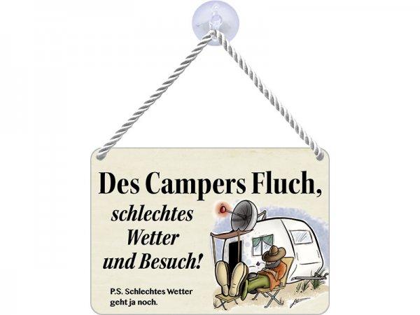 Kulthänger Blechschild Des Campers Fluch KH047