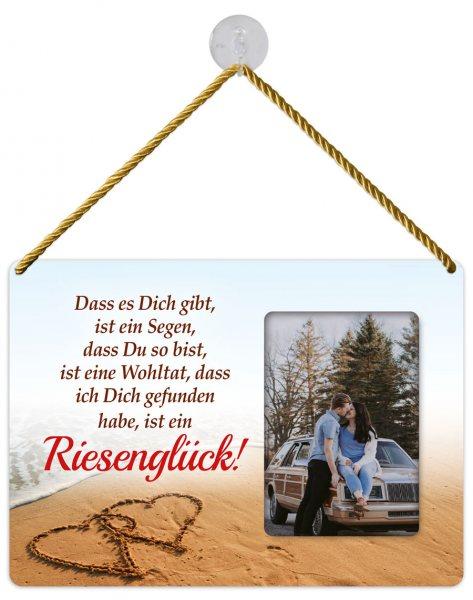 Kult-Rahmen Blechschild Riesenglück KR003