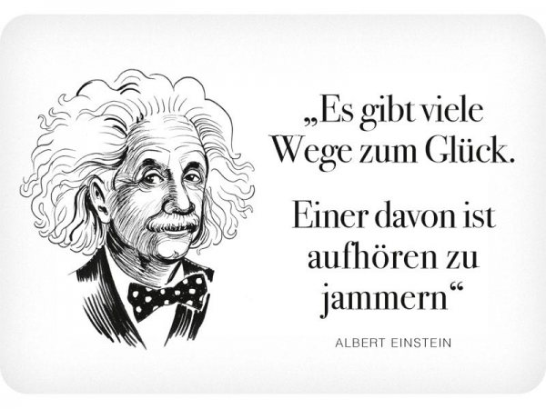 Kulthänger Blechschild jammern Einstein KH125