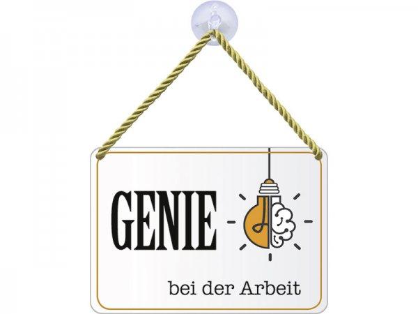 Kulthänger Blechschild Genie bei der Arbeit KH057