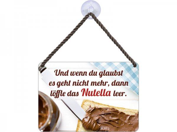 Kulthänger Blechschild Und wenn du denkst es geht nicht mehr… Schokolade KH098
