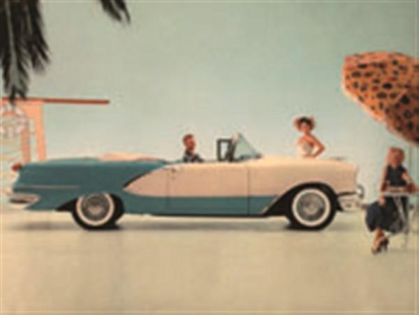 Amerika - Auto blau