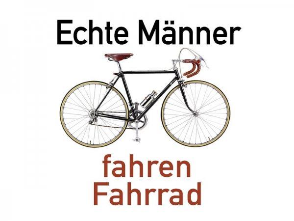Untersetzer Echte Männer fahren Fahrrad Kultdeckel D04