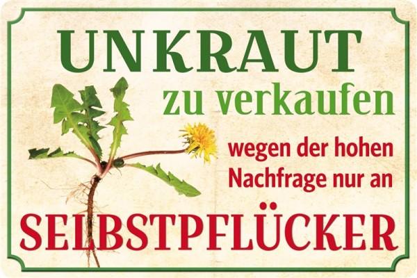 Blechpostkarte Unkraut Zu Verkaufen Super Schlaue Spruche
