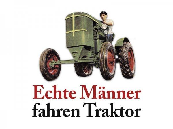 Untersetzer Echte Männer fahren Traktor Kultdeckel D02