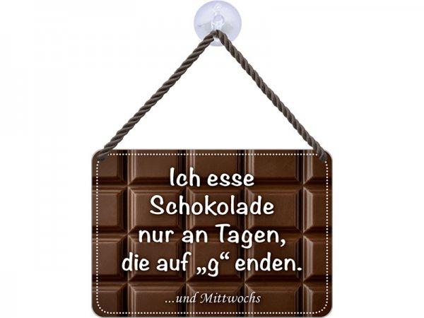 Kulthänger Blechschild Schokoladentag KH083