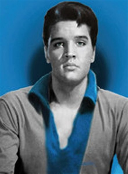 Elvis a blue day