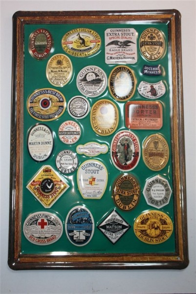 Guinness Framed Labels 1