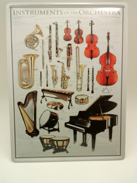 Blechschild Instruments of the Orchestra Blechschild