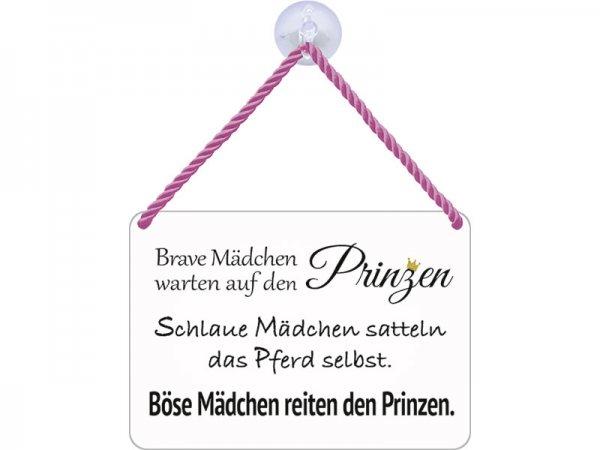 Kulthänger Blechschild Brave Mädchen, böse Mädchen, Prinzen KH070