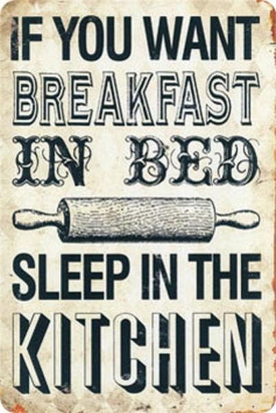 Breakfast - sleep in the kitchen