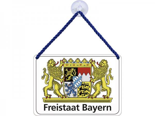 Kulthänger Blechschild Freistaat Bayern KH050