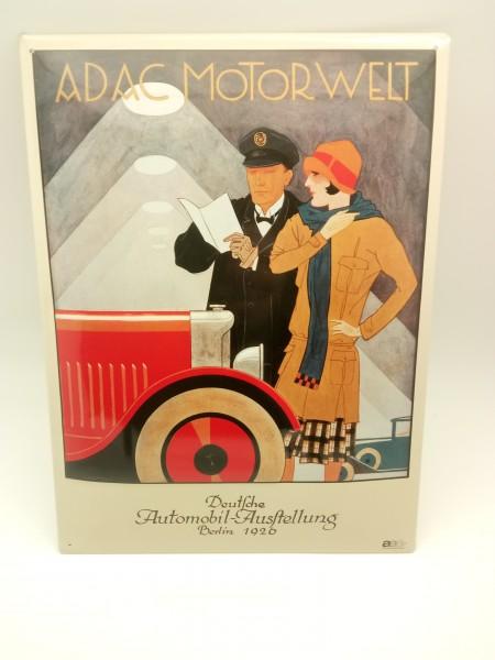 "ADAC Motorwelt ""Deutsche Automobil Ausstellung Berlin 1929"" Blechschild"