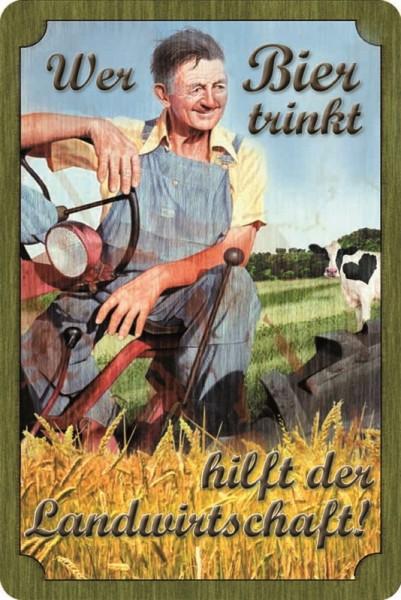 Wer Bier trinkt unterstützt die Landwirtschaft