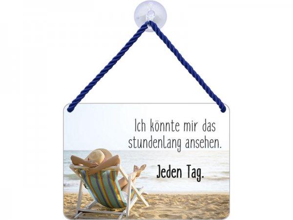 Kulthänger Blechschild Strandstuhl KH078