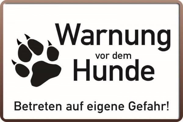 Warnung vor dem Hunde