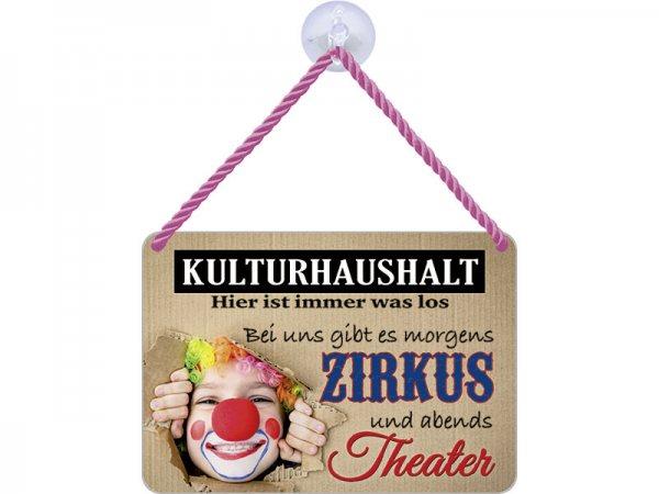 Kulthänger Blechschild Kulturhaushalt KH059