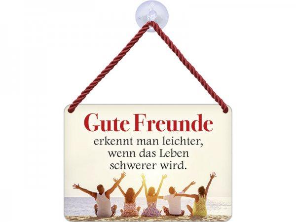 Kulthänger Blechschild Gute Freunde KH146
