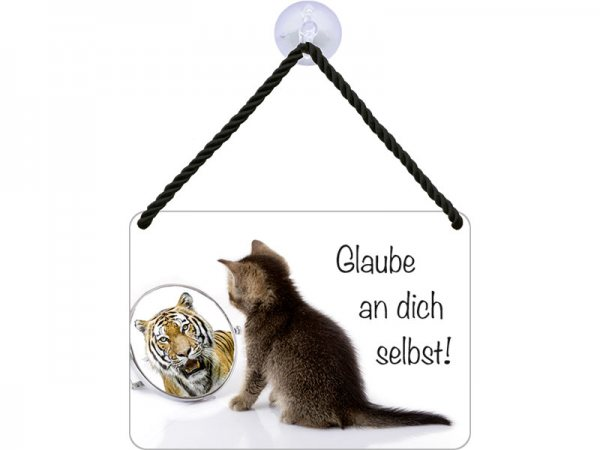 Kulthänger Blechschild Glaube KH080