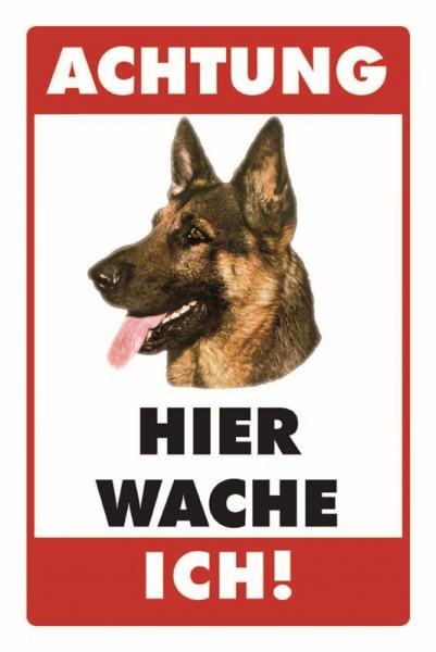 Schäferhund Achtung Hier wache ich!