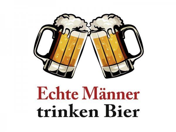 Untersetzer Echte Männer trinken Bier Kultdeckel D03