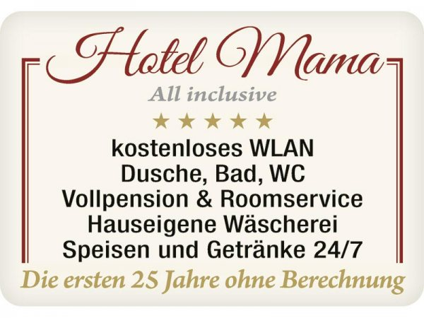 Kulthänger Blechschild Hotel Mama KH117