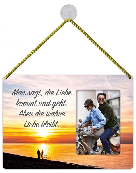 Kult-Rahmen Blechschild Wahre Liebe KR009
