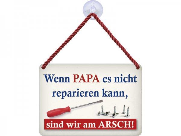 Kulthänger Blechschild Papa reparieren KH130