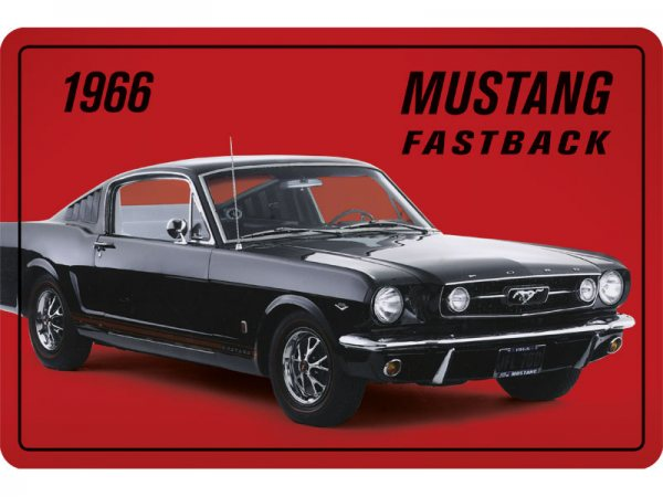 Blechschild Ford Mustang Fastback 1966 300/494