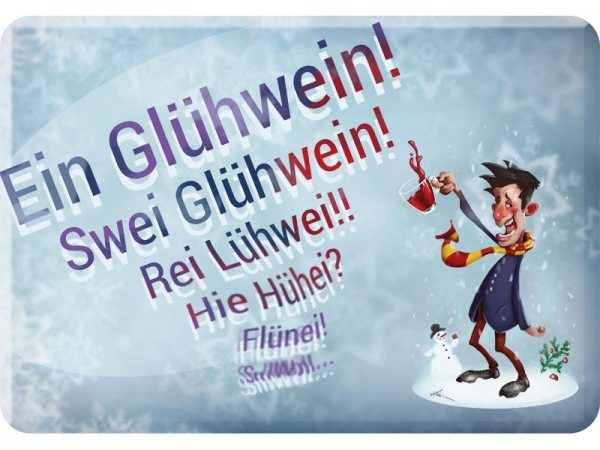 Kulthänger Blechschild Glühwein KH155