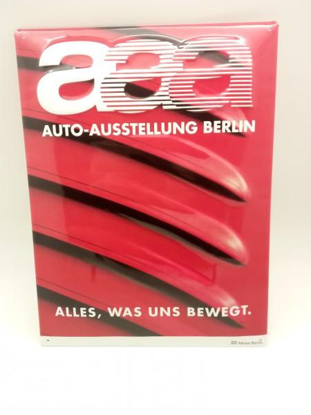 AAA Auto-Schau Berlin 30x40 Blechschild