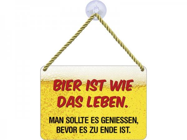 Kulthänger Blechschild Bier Leben KH127
