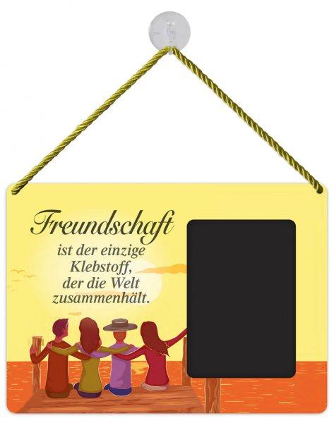 Kult-Rahmen Blechschild Klebstoff Freundschaft KR024