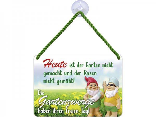 Kulthänger Blechschild Gartenzwerge KH118