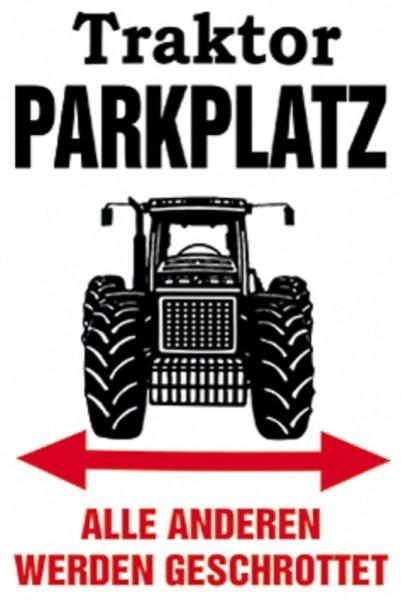 Traktor Parkplatz