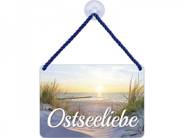 Kulthänger Blechschild Ostseeliebe KH012