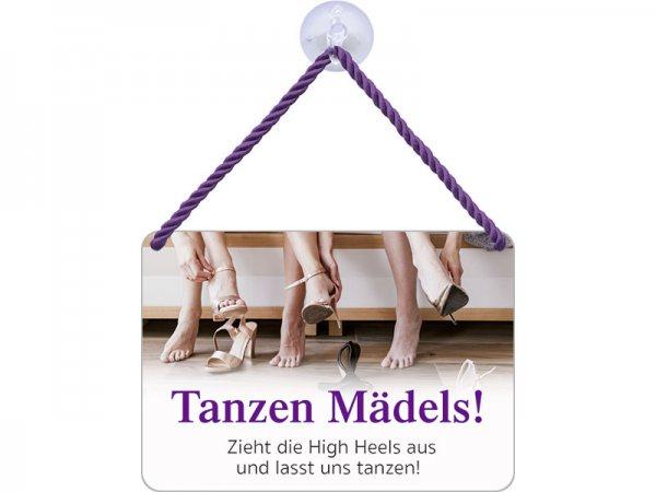 Kulthänger Blechschild Tanzen Mädels KH028