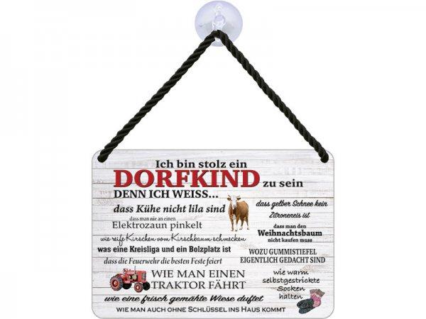 Kulthänger Blechschild Dorfkind KH042