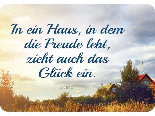 Kulthänger Blechschild Haus + Freude KH093