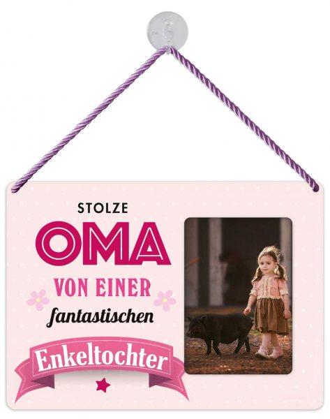 Kult-Rahmen Blechschild Oma Enkelin KR025