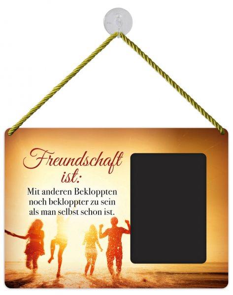Kult-Rahmen Blechschild bekloppte Freundschaft KR018