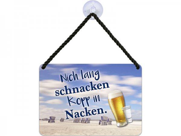 Kulthänger Blechschild lang schnacken KH106
