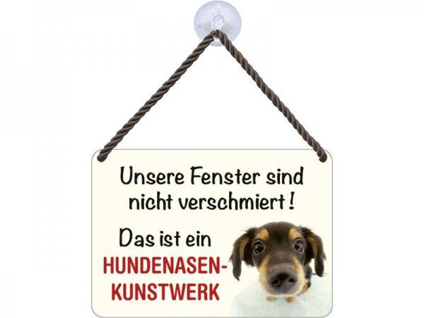 Kulthänger Blechschild Hundenasenkunstwerk KH002