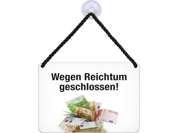 Kulthänger Blechschild Reichtum KH091