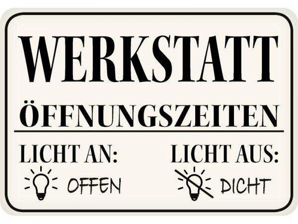 Kulthänger Blechschild Werkstatt KH120