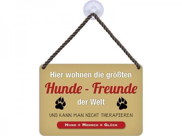 Kulthänger Blechschild Hunde-Freunde KH010