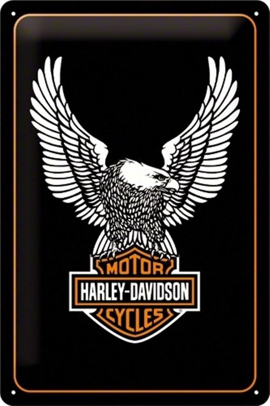 blechschild harley davidson adler harley davidson. Black Bedroom Furniture Sets. Home Design Ideas