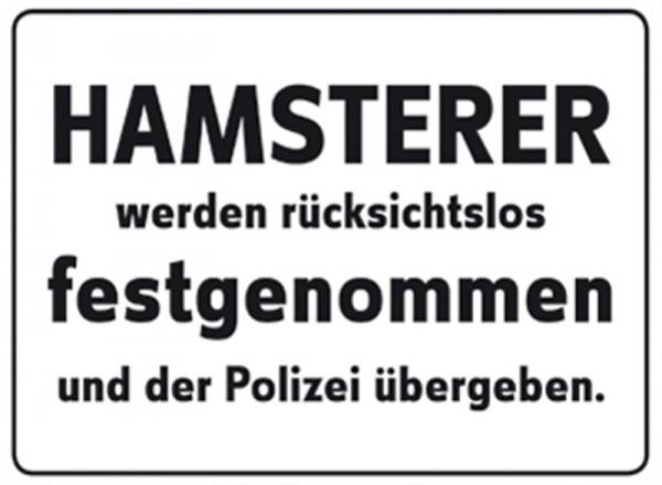 Hamsterer werden rücksichtslos festgenommen und der Polizei übergeben