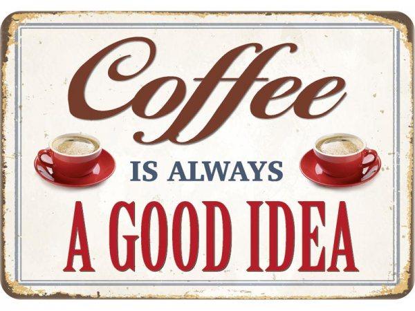 Kulthänger Blechschild Coffee Idea KH136