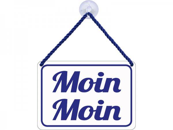 Kulthänger Blechschild Moin Moin KH040